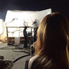 @Kat_McNamara: This is the outside of Clary's burning room set! #ShadowhuntersChat @FreeformTV @ShadowhuntersTV #Shadowhunters.