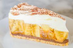 Une tarte à la banane et à la crème réconfortante