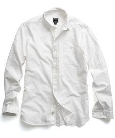 Selvedge Oxford Shirt in White