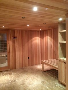 Changing room for a sauna Changing Room, Saunas, Home And Family, Furniture, Home Decor, Washroom, Walk In Closet, Decoration Home, Room Decor