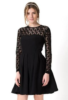 CASANALI | Dress The #Lace panel #SkaterDress  Shop now while it lasts.