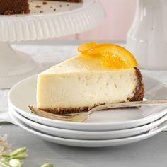 "Elegant Orange Blossom Cheesecake; reminds me of the movie ""Because I said so"""
