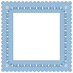 """""""Blue ~&~ White poke a dots Frame""""..."""