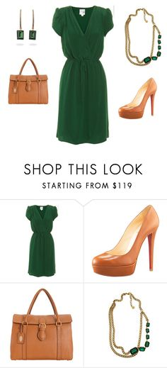 """""""Emerald Work"""" by ggdesigns ❤ liked on Polyvore featuring Beyond Vintage, Christian Louboutin, Fendi, Ben-Amun and Fantasy Jewelry Box"""