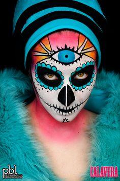 Turquoise Calavera (2012) http://www.makeupbee.com/look_Turquoise-Calavera-2012_42299
