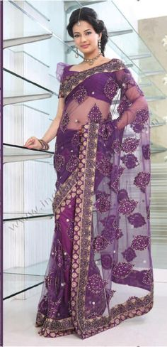 Purple Net Saree 15282 With Unstitched Blouse Latest Indian Saree, Indian Sarees Online, Buy Sarees Online, Blouse Online, Indian Dresses, Indian Outfits, Indian Clothes, Long Petticoat, Indian Accessories
