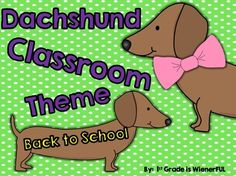 Classroom Theme~ Dachshunds: Great for Back to School classroom decor :o) Classroom Labels, School Classroom, Classroom Themes, Reading Workshop, Writing Workshop, Writing Process Posters, School Binder Covers, Abc Cards, Behavior Clip Charts