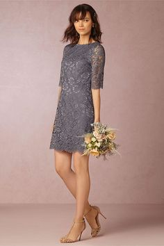 BHLDN Gia Dress ($70, on sale): It wouldn't be a bridesmaid dress without a bit of lace. The ¾ sleeves are perfect for those cooler nights.