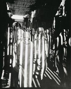 Peter Thomann :: Oriental lane, Marrakech 1964 / pattern, stripes, shadows
