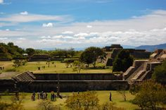 The pre-Columbian archaeological site of Monte Albán, inhabited for over 1,500 years by the Olmecs, Zapotecs and Mixtecs. Oaxaca, Mexico.