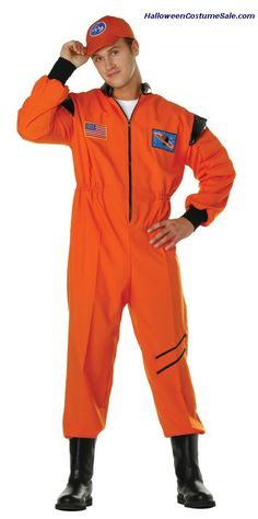 Get ready for a space adventure in the new shuttle astronaut costume! This Shuttle Hero Costume includes an Orange jumpsuit and a matching cap. Perfect for Halloween and costume parties! Couples Costumes Adult, Adult Costume Ideas Diy, Unique Couple Halloween Costumes, Halloween Costume Puns, Halloween Ideas, Awesome Costumes, Cute Sweater Outfits, Cute Sweaters, Patriotic Costumes