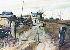 Chester County Farm HS Limited Edition Print by Andrew Wyeth Andrew Wyeth Prints, Andrew Wyeth Paintings, Andrew Wyeth Art, Jamie Wyeth, Nc Wyeth, Chester County, Norman Rockwell, Watercolor Landscape, Portraits