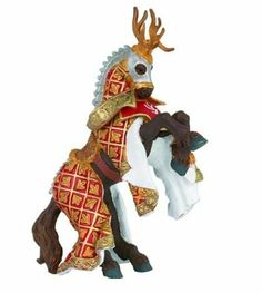 Papo Weapon Master Stag Horse by Papo. $8.21. Perfect compliment to the Weapon Master Stag Knight #39911 (sold separately) or any other papo riding knight figure.. 6.44 in L x 2.34 in W x 3.39 in H. The Papo toy line features beatifully crafted figurines of knights, pirates, castles and enchanted creatures. Papo toys come in a wide variety of colors, all hand painted and bursting with imagination. With Papo Knights toys, a world of medieval castles, brave knights, and fierce dra...