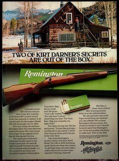 1981 REMINGTON 700 Rifle AD disgraced Kirk Darner Photo at Colorado Cabin