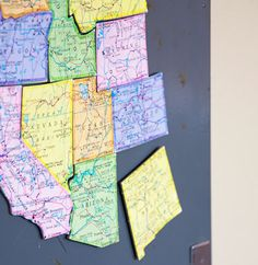 Teach kids by making Map Magnets added learning bonus, world magnets