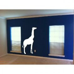 4ft Giraffe vinyl decal- Safari animals [0209ICQ8S3E]