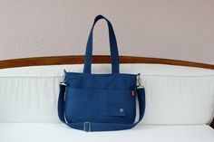 Items similar to Blue canvas purse double strap front pocket college daily use bag washable shoulder crossbody everyday bag school bag minimalist travel bag on Etsy Campus Style, Canvas Purse, Blue Canvas, Everyday Bag, Goods And Services, Messenger Bags, Laptop Bag, School Bags, Travel Bag