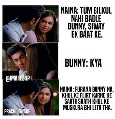 Yjhd Quotes, Bollywood Quotes, Meant To Be Together, Mean People, Deep Quotes, Hindi Movies, Ranbir Kapoor, Deepika Padukone, Movie Quotes