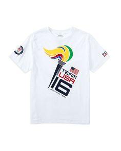 Ralph Lauren Childrenswear Boys' Team Usa Torch Tee - Sizes 2-7