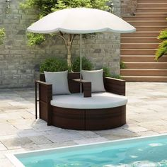 15 Small Balcony Furniture Pieces You Must Know - Foter Outdoor Sofa Sets, Brown Outdoor Furniture, Small Balcony Furniture, Outdoor Daybed, Pool Patio Furniture, Patio Daybed, Outdoor Dog, Bar Noir, Rattan Daybed