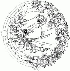 detailed coloring pages for adults coloring page horse mandala coloringme detailed