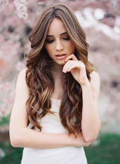 wedding hairstyles for long hair down | Weddings | Pinterest