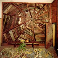 Beautiful wall from salvaged wood