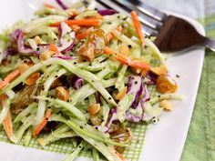 Gojee - Broccoli Slaw Salad with Honey-Mustard Yogurt Dressing by The Perfect Pantry