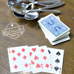 Spoons is the perfect game for all ages. It's a great family game for kids, teens, and adults to play. Hilarious and so much fun! Family Games For Kids, Family Card Games, Fun Card Games, Playing Card Games, Kids Fun, Party Games, Family Guy, How To Play Spoons, Family Fun Night