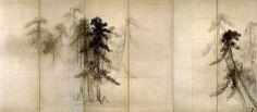 松林図・右隻 (Pine Trees / right hand screen) 16th century