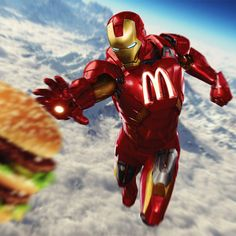 McDonald's Iron Man -   If Superheroes Were Sponsored & Branded by Major Corporations