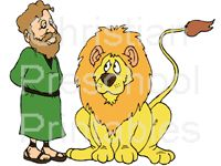Daniel and the Lion's Den Coloring Sheet...with Verse