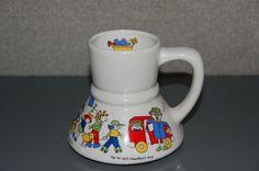 VTG 1982 Coffee To Go No Spill Chauffer Mug Cup Carpool Mom RARE