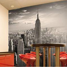 Skyline Wallpaper Mural - New York cityscape feature wall decor