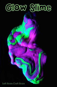 Glow in the Dark Slime - Left Brain Craft Brain