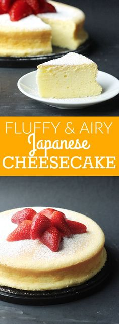 Fluffy and airy Japanese Souffle Cheesecake! It's a delicious, lighter version of the traditional cheesecake!