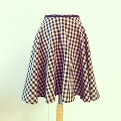 COFFEE and CREME Skirt by Moonboot Vintage - handmade to order in your size - Misses