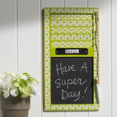 Decoupage - Shutter Chalkboard Project Idea