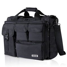 Lifewit 17 inch Men's Military Laptop Messenger Bag Multifunction Tactical Briefcase Computer Shoulder Handbags, Black >>> You can get more details by clicking on the image. (This is an affiliate link) Best Laptop Messenger Bag, Laptop Briefcase, Leather Briefcase, Laptop Bags, Nylons, Tactical Bag, Best Laptops, Computer Bags, Laptop Computers
