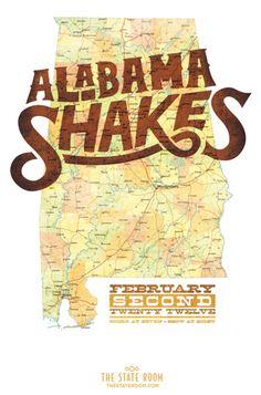 Alabama Shakes | Salt Lake City 2012 | Design: Thy Doan