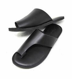 Toe Loop Sandals, Beaded Sandals, Leather Men, Black Leather, Vegan Leather, Most Comfortable Sandals, Yellow Sandals, Beautiful Sandals, Mens Flip Flops