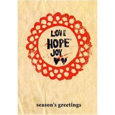 Love Hope Joy| Card