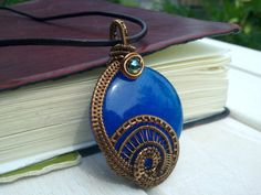 Quartz Wire Wrapped Pendant Wire Wrapped by EmmaWyattArt on Etsy, £26.00