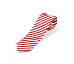 Best Men's Ties - Red white striped tie
