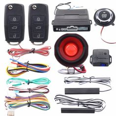 93.75$  Watch now - Quality Easyguard PKE car alarm system passive keyless entry kit remote engine start push button start remote lock unlock  #magazine