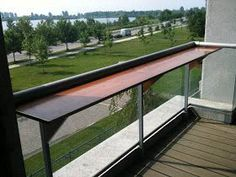 balcony bar In the concrete jungle of Downtown Toronto. Nothing says an oasis like a beautiful Cedar Balcony Bar. Bringing with it the elegant look of. Porch Bar, Patio Bar, Wood Patio, Glass Balcony, Balcony Plants, Balcony Gardening, Balcony Railing, Deck Railings, Railing Ideas