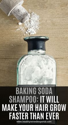 Baking Soda Shampoo: It Will Make Your Hair Grow Faster Than Ever Backpulver-Shampoo: So wachsen Ihre Haare schneller als je. Baking Soda And Honey, Baking Soda For Hair, Baking Soda Water, Baking Soda Dry Shampoo, Baking Soda For Dandruff, Honey Shampoo, Shampoo Bar, Natural Hair Shampoo, Shampoo For Curly Hair