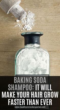 Baking Soda Shampoo: It Will Make Your Hair Grow Faster Than Ever Backpulver-Shampoo: So wachsen Ihre Haare schneller als je. Baking Soda Dry Shampoo, Baking Soda For Dandruff, Baking Soda Baking Powder, Baking Soda Water, Baking Soda Vinegar, Baking Soda Uses, Cider Vinegar, Honey Shampoo, Baking Pans