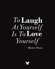 Mickey Mouse Quote Print To Laugh At Yourslef by MSherwoodDesigns, $10.00
