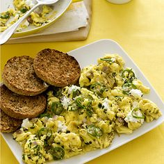 Cheese and eggs taste great together and may help combat osteoporosis. The reason: calcium in cheese is more easily absorbed into the body with the addition of vitamin D-rich eggs. This recipe will be ready in under 15 minutes!